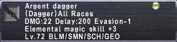 Argent Dagger
