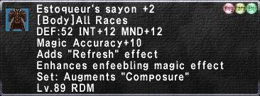Estoqueur's Sayon +