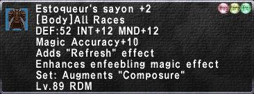 Estoqueur's Sayon +2