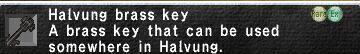 Halvung Brass Key