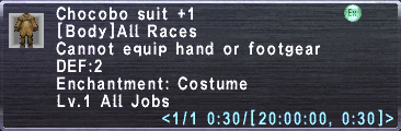 Chocobo Suit +1