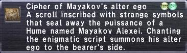 Cipher: Mayakov