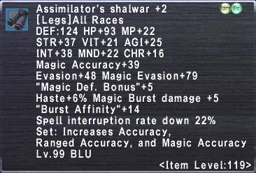 Assimilator's Shalwar +2