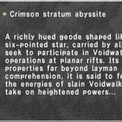 Crimson Stratum Abyssite