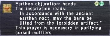 Earthen Abjuration: Hands