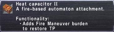 Heat Capacitor II