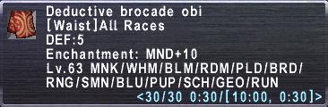 Deductive Brocade Obi