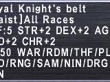 Royal Knight's Belt