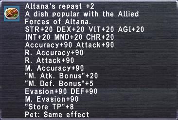 Altana's Repast +2