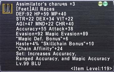 Assimilator's Charuqs +3