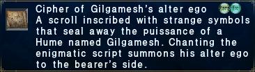 Cipher: Gilgamesh