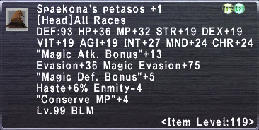 Spaekona's Petasos +1