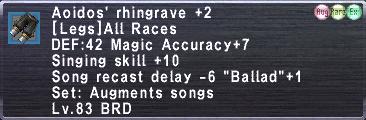 Aoidos' Rhingrave +2