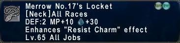 Merrow No. 17's Locket