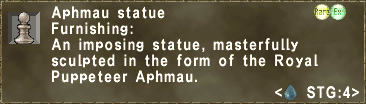 Furnishing: An imposing statue, masterfully sculpted in the form of the Royal Puppeteer Aphmau.