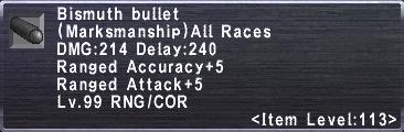 Bismuth Bullet