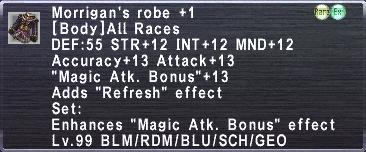 Morrigan's Robe +1