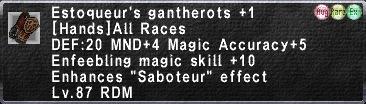 Estoqueur's Gantherots +1