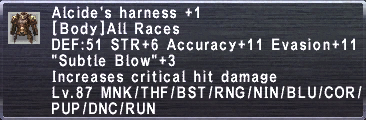 Alcide's Harness +1
