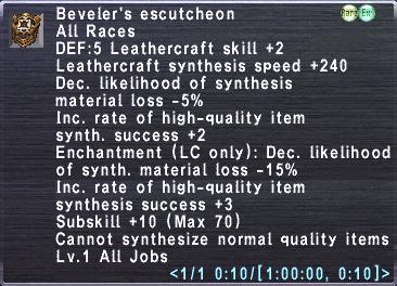 Beveler's Escutcheon
