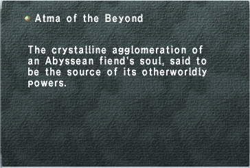 Atma of the Beyond