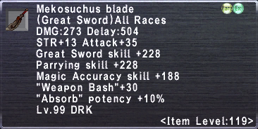 Mekosuchus Blade
