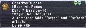 Contriver's Cape