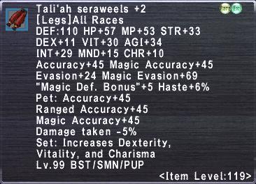 Tali'ah Seraweels +2