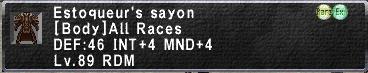 Estoqueur's Sayon