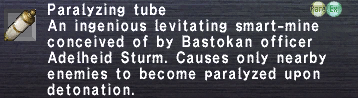 Paralyzing Tube