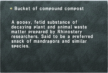 Bucket of compound compost