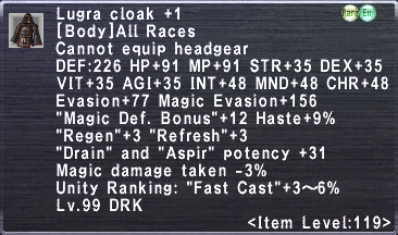 Lugra Cloak +1