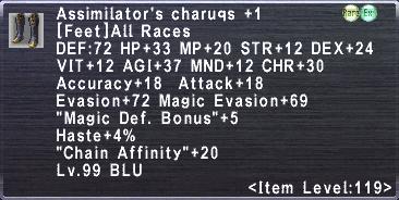Assimilator's Charuqs +1
