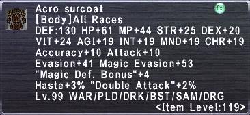 Acro Surcoat