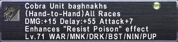 Cobra Baghnakhs