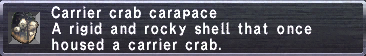 Carrier Crab Carapace