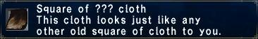??? Cloth