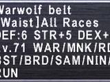 Warwolf Belt