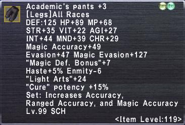 Academic's Pants +3