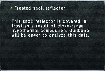 Frosted snoll reflector