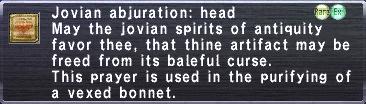 Jovian Abjuration: Head