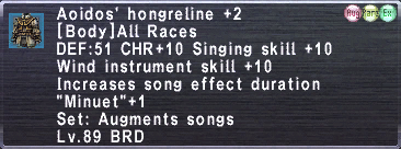 Aoidos' Hongreline +2