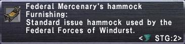 Federal Mercenary's Hammock