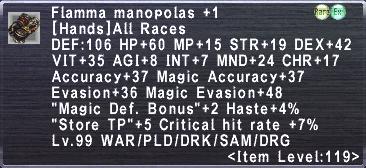 Flamma Manopolas +1