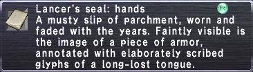 Lancer's Seal: Hands