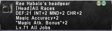 Ree's Headgear