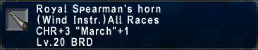 Royal Spearman's Horn