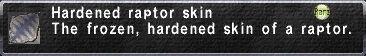 Hardened Raptor Skin