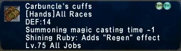 Carbuncle's Cuffs