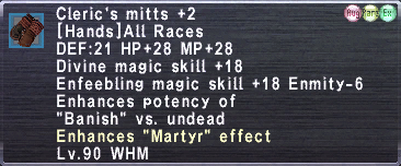Cleric's Mitts (Augmented) +2